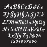 Handwritten alphabet set Stock Photos