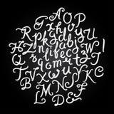 Handwritten alphabet set Royalty Free Stock Photo