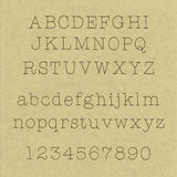 Handwritten alphabets. On cardboard - uppercase and lowercase letters Stock Images