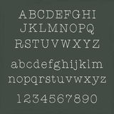 Handwritten alphabets. On chalkboard - uppercase and lowercase letters Stock Photos