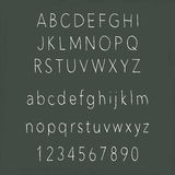 Handwritten alphabets. On chalkboard - uppercase and lowercase letters Stock Image