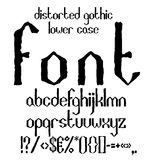 Handwritten black distorted gothic lower case Royalty Free Stock Photo