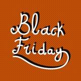 Handwritten black friday poster Stock Images