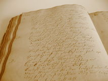 Handwritten Book II Stock Images
