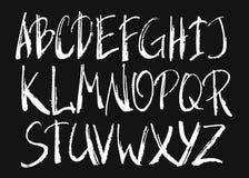 Handwritten brush alphabet Royalty Free Stock Image
