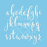 Handwritten brush style calligraphy cursive font Royalty Free Stock Images
