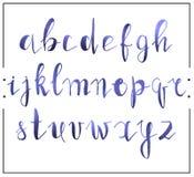 Handwritten calligraphic font alphabet written by a marker Stock Photo