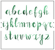 Handwritten calligraphic font alphabet written by a marker Stock Photo