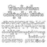 Handwritten calligraphic script Royalty Free Stock Photo