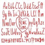 Handwritten Calligraphy Alphabet Digaital Letters Royalty Free Stock Photo