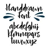 Handwritten calligraphy font. Vector alphabet. Hand drawn letters Royalty Free Stock Image