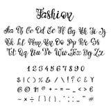 Handwritten calligraphy font. stock illustration