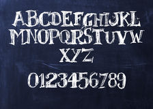 Handwritten chalk ABC Stock Image