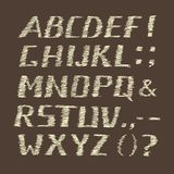 Handwritten Chalk Alphabet on Brown  Background Stock Photography