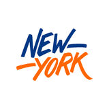 Handwritten city name New York. Calligraphic element for your design. Royalty Free Stock Photos