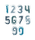 Handwritten colorful vector freak numbers Royalty Free Stock Photo