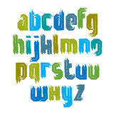 Handwritten colorful vector lowercase letters, stylish letters d Stock Image