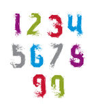 Handwritten contemporary vector digit set, doddle hand-painted s Royalty Free Stock Image