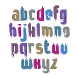 Handwritten contemporary vector lowercase letters, doodle hand-p Royalty Free Stock Photo