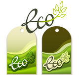 Eco labels. Handwritten Eco labels for any goods Royalty Free Stock Photo