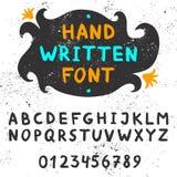 Handwritten font. Royalty Free Stock Photography