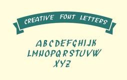 Handwritten font character symbols Stock Image
