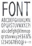 Handwritten font. Stock Photo
