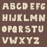 Handwritten font. Hand drawn sans serif type. Stock Photos