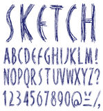 Handwritten font. Royalty Free Stock Photos