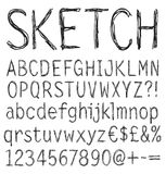 Handwritten font. Stock Photography