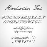Handwritten Font, ink style Stock Photos