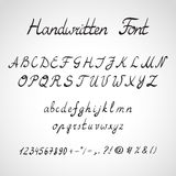 Handwritten Font, ink style Stock Photo