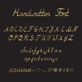 Handwritten Font, ink style Royalty Free Stock Images