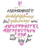 Handwritten Font Stock Photo