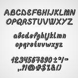 Handwritten Font Royalty Free Stock Image