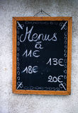 French Menu Board Royalty Free Stock Photos