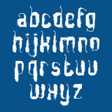 Handwritten graffiti vector lowercase letters  on blue b Stock Images