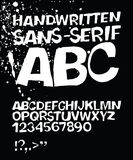 Handwritten grunge sans-serif ABC Stock Images