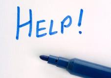 Handwritten help message Stock Photography