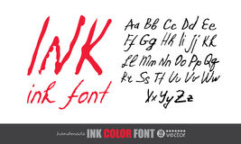 Handwritten ink font. Royalty Free Stock Image