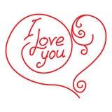 Handwritten inscription I love you Royalty Free Stock Image