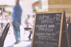 handwritten-italian-marketing-menu Stock Photography