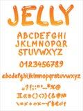 Handwritten jelly font stock illustration