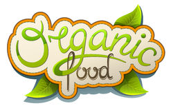 Organic food. Handwritten label Organic food eco style Stock Photo