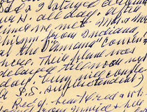 Handwritten letter Stock Photography