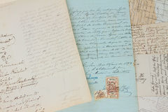 Handwritten letter background Royalty Free Stock Photos