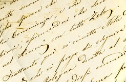 Handwritten letter II Royalty Free Stock Images