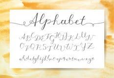 Handwritten lettering alphabet Royalty Free Stock Photos