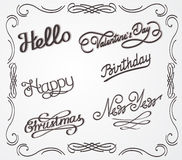 Handwritten lettering Royalty Free Stock Images