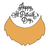 Handwritten lettering composition of Happy St. Patrick`s Day royalty free illustration